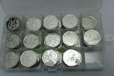 50p Or £2 Two Fifty Pence Coin Case Money Jewellery Box Storage Container Holder 5