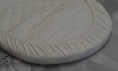 2 x Baby Moses Basket Jersey Fitted Sheet 100% Cotton 30x75cm 10