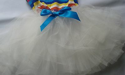 Girls Dresses, Beautiful Elegant  5 Frills Tail for Parties or any Occasion 3