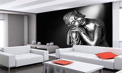 BLACK AND WHITE Buddha Wall Mural Photo Wallpaper GIANT DECOR Paper