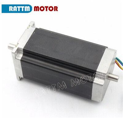 EU┃  3- Nema23 Dual shaft 425oz.in Stepper Motor 112mm 3A for CNC Router Milling 5