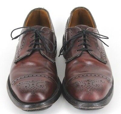 Allen Edmonds Lexington Merlot Leather Cap Toe Oxfords In US Size 9 B Narrow