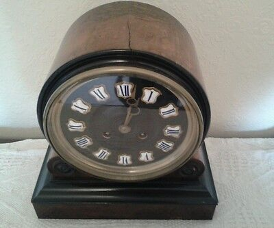 Antique 1880's French Burr Walnut Barrel Style Count Wheel Clock 4