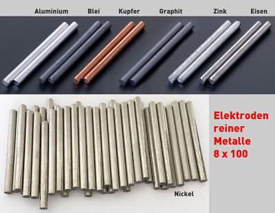 Graphit-Stab-Anode / Elektrode 20 cm x 8 mm Rundstab Graphitelektrode 200 Grafit 3