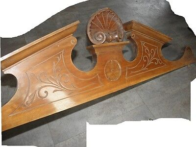 French Antique Louis XVI Style Solid Wood Crest/Pediment/Crown old 6