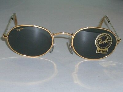fceedef8ee 1 of 7FREE Shipping VINTAGE B L RAY BAN W0976 G15 GOLD PLATED WIRE OVAL AVIATOR  SUNGLASSES w CASE