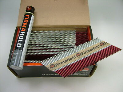 1st fix collated nails 75mm x3.1 box 1100 +1 gas fuel cell Firmahold fit Paslode 2
