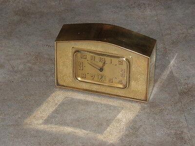 vintage clock alarm Bayard retro desk  Art Deco design Mechanics uhr old bauhaus 3