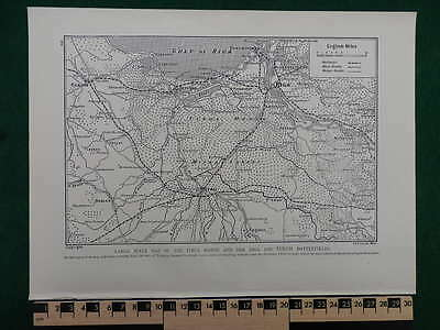 1916 War Map Tirul Marsh, Riga & Tukum Battlefields Dimitrieff Wwi Ww1