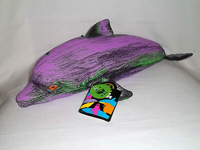 """NWT 1992 APPLAUSE WWF 16"""" Plush Fanciful BOTTLE NOSED DOLPHIN Stuffed Colorful"""