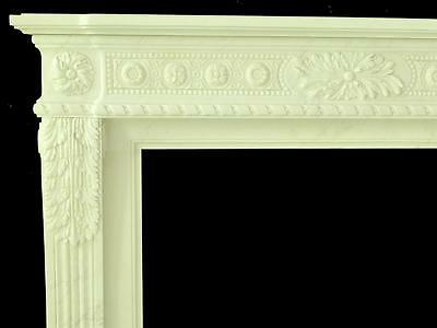 Beautiful Hand Carved Marble European Design Marble Figural Fireplace Mantel Z4 4