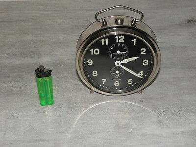 older clock alarm  jaz tempesto desk Art Deco design vintage 70 Mechanics uhr 6