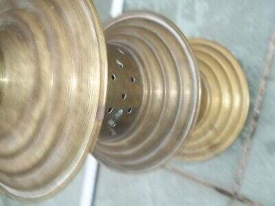 Rohr Metall Pumpe alt Antiquität Stab mit Löcher Holzboden Holzgriff rund Sammle 3