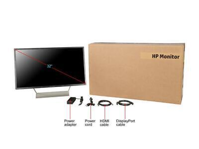 "HP Pavilion 32q 32"" Display WVA 1.07M colors DisplayPort HDMI 2560x1440 @ 60 Hz, 7"