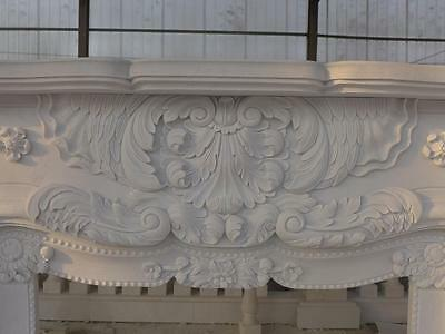 Beautiful Hand Carved Marble European Design Marble Figural Fireplace Mantel Z6 5