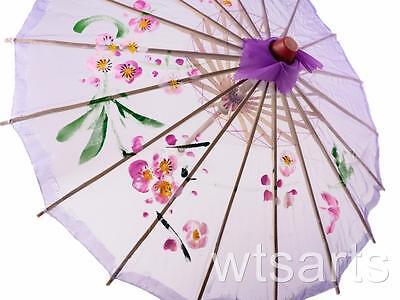 Medium Chinese Floral Parasol Geisha Umbrella - 83cm Dia 11