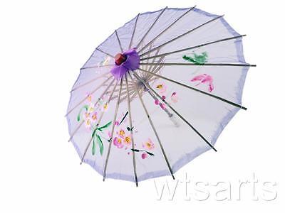 Medium Chinese Floral Parasol Geisha Umbrella - 83cm Dia 6