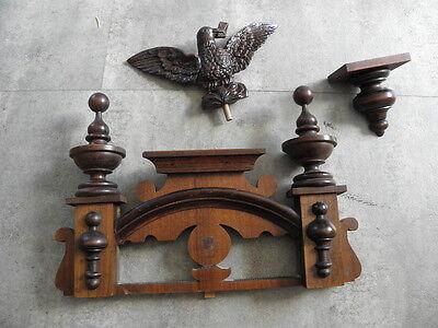 antique Clock Vienna Regulator German Wall Clock Chime horloge circa old d.r p 5
