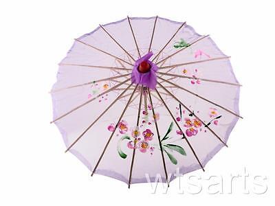 Medium Chinese Floral Parasol Geisha Umbrella - 83cm Dia 12