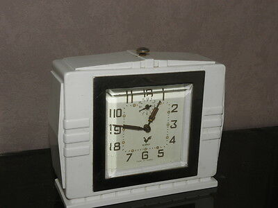 vintage clock alarm blangy retro desk  Art Deco design  Mechanics uhr old french 6