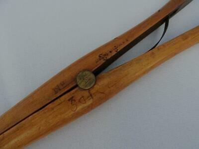 Antique Glove Stretchers Treen Edwardian Large Boxwood Brass Dent and Co c1910 3