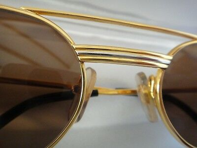60ea847a1e ... Vintage Cartier Vendome Must Gold 55Mm Sunglasses Elton John France  Hard Plated 2