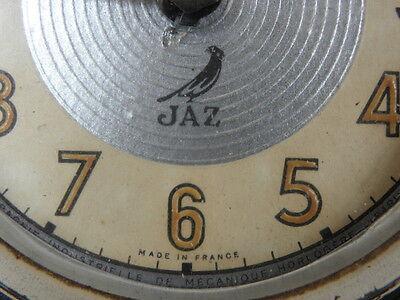 vintage clock alarm jaz retro desk  Art Deco design  Mechanics uhr old french 4