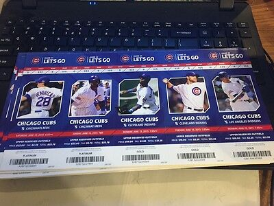2015 Chicago Cubs Season Ticket Stub Pick Your Game Bryant Arrieta Rizzo Soler 7