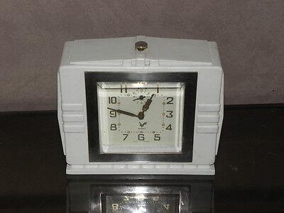 vintage clock alarm blangy retro desk  Art Deco design  Mechanics uhr old french 7