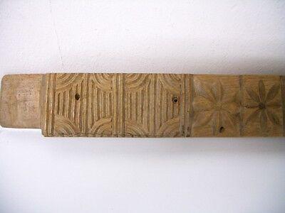 Seltenes altes Holzmodel, Backmodel, Springerlemodel Biedermeier um 1820 3
