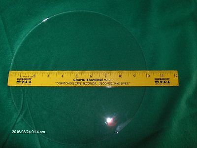 """NOS FLAT Round Clock or Craft Glass 4 1//2/"""" Dia .080/"""" Thick,Nice Hand Cut Edge"""