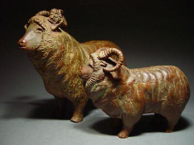 BRONZE SHETLAND SHEEP OF SCOTLAND, SCANDINAVIAN SCULPTURAL ART. 19/20th C. 4
