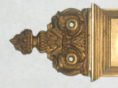 "Antique Eastlake Victorian Pocket Door Pull 10 1/2"" x 2 1/2"" Stamped 3278 4"