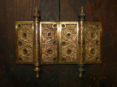Matched Pair Circa 1876 Cast Bronze  Hinges By Corbin Left Hand 2