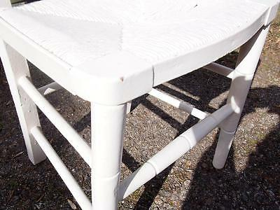 A Very Sweet Little Antique Painted Edwardian Era Childs Chair Shabby Chic Style 4