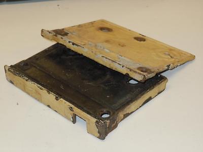 "Antique 4.5""x3.5"" NORWICH RIM DOOR LOCK Box #570 2 Pat'd Sept 20 1870 Parts 2 PC 3"