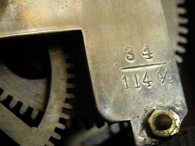 antique Clock Vienna Regulator German Wall Clock Chime horloge circa old d.r p 8