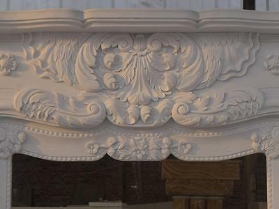 Beautiful Hand Carved Marble European Design Marble Figural Fireplace Mantel Z6 3