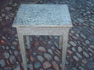 Antique Rustic Pine Painted Side Table 3