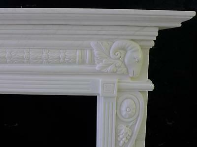 Beautiful Hand Carved Marble European Design Marble Figural Fireplace Mantel Z10 2