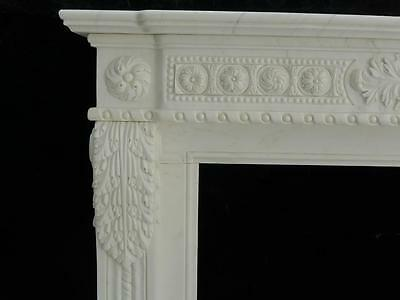 Beautiful Hand Carved Marble European Design Marble Figural Fireplace Mantel Z7 4