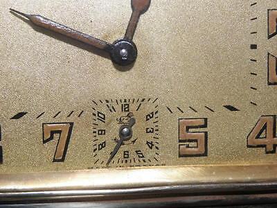 vintage clock alarm Bayard retro desk  Art Deco design Mechanics uhr old bauhaus 8