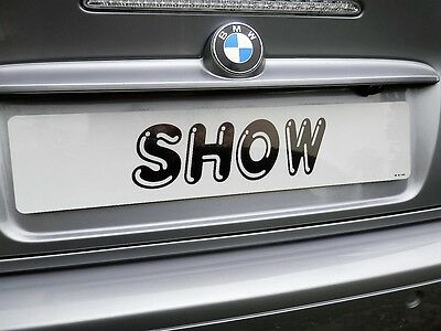 Showroom Show Display Number Plate Suction Cups Low Profile No Glue No Tapes 6
