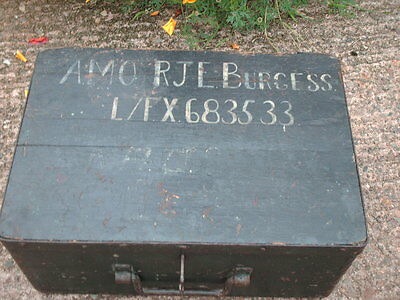 Antique Rustic Strong  Box / Military Chest 3
