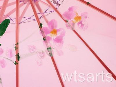 Medium Chinese Floral Parasol Geisha Umbrella - 83cm Dia 3