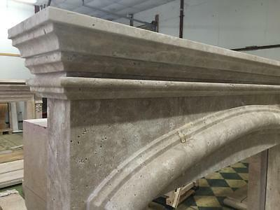 Beautiful Large Hand Carved Marble Estate Fireplace Mantel - Jd608 5