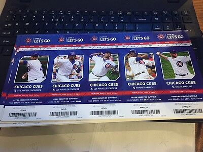 2015 Chicago Cubs Season Ticket Stub Pick Your Game Bryant Arrieta Rizzo Soler 8