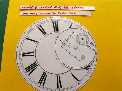 Buyers Ref:M,  Replacement laminate White  Vienna Regulator Clock Dial option 12 2