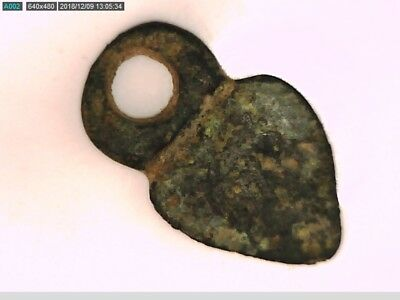 Heart Shape Ancient Bronze Pendant with the face of Pan Medieval Byzantine gift 5