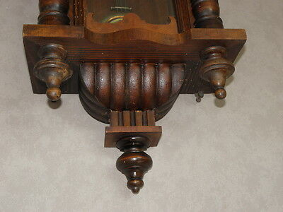 antique Clock Vienna Regulator German Wall Clock Chime horloge circa old d.r p 2